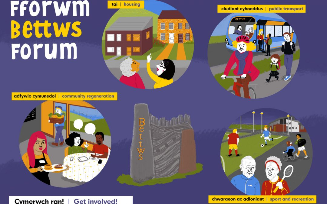 Get involved with community improvement plans for Bettws